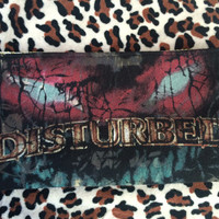 DISTURBED - Upcycled Concert/ Band T-shirt Makeup/ Pencil Pouch - ooak