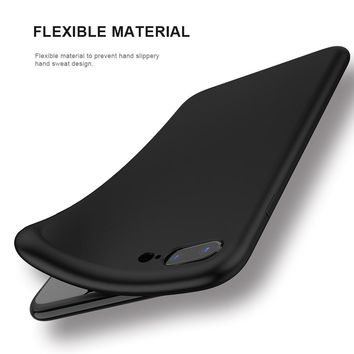 FLOVEME For iPhone X 10 5.8inch 2017 Cases Luxury , Smooth Silicon Cover For iPhone 8 iPhone 7 Plus Super Slim Phone Cases Coque
