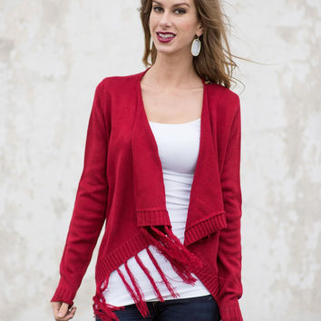Falling to Pieces Sweater - Red