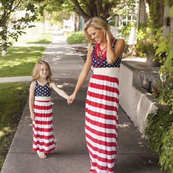 The Patriotic™ 4th of July Baby Girl Mom Matching Dress