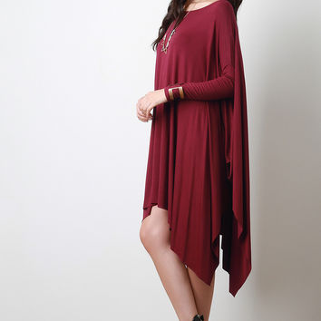 Sharkbite Jersey Knit Trapeze Dress