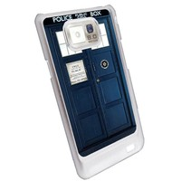 Tardis Doctor Who Samsung Galaxy S2 case white AT&T SGH-i777 canadian & international i9100
