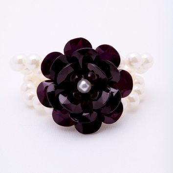 Secret Admirer Bracelet - Black/Pearl