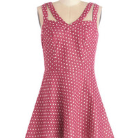 ModCloth Mid-length Sleeveless A-line Let's Think Pink Dress