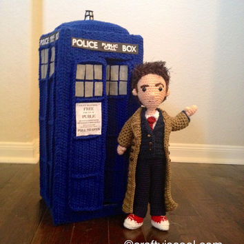 Tenth Doctor Who and TARDIS Amigurumi Crochet Patterns