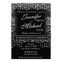 WEDDING INVITATION | Silver Falling Stars