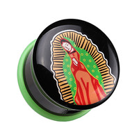 Our Lady of Guadalupe Single Flared Ear Gauge Plug