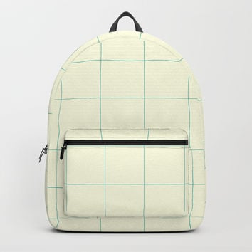 Minimalist Grid Pattern with Space and Lines Backpack by spaceandlines