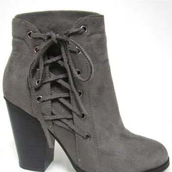 To Fly To Be On Stand By Ankle Bootie, Grey