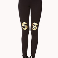 Metallic Dollar Sign Leggings