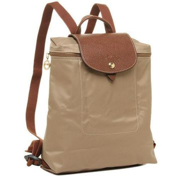 longchamp le pliage foldable backpack beige msrp lc lon089 1699 841 125