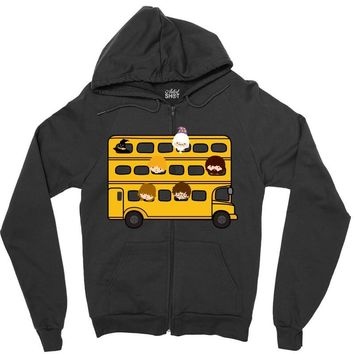 Harry Potter Schoolbus Zipper Hoodie