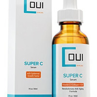 Super Vitamin C Serum - Best Collagen Anti Aging Skin Care for Face and Eyes - EGF + Marine Kelp + Hyaluronic Acid