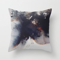 left to smolder Throw Pillow by duckyb