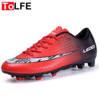 Outdoor Lawn Soccer Shoes Men FG Football Shoes Boots Long Spikers Soccer Boot Cleats Trainer Sport Soccer Sneaker NX444