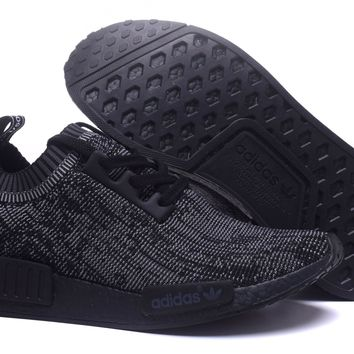 FREE SHIPPNG Adidas NMD_R1 PK Primeknit PITCH Black Runner Sports Shoes S80489