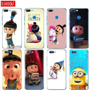 Silicone Cover phone Case for Huawei Honor 10 V10 3c 4C 5c 5x 4A 6A 6C pro 6X 7X 6 7 8 9 LITE My Unicorn Agnes Minions