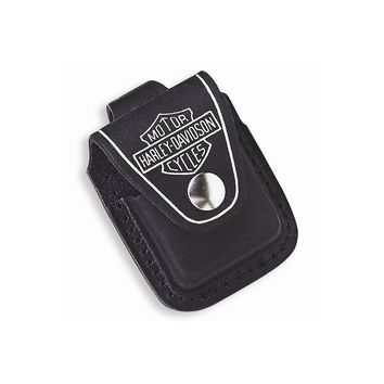 Zippo H-D Black Leather Lighter Pouch with Loop