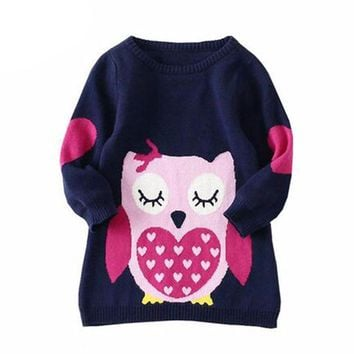 Baby Girls Sweaters Long Sleeve Knitted Clothes