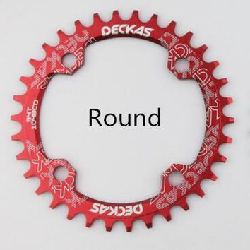 Deckas Round Chainring MTB Mountain bike bicycle chain ring 104BCD 32T 34T 36T 38T ultralight crankset Tooth plate Parts BCD 104