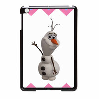 Olaf Disney Frozen Blue Pink Chevron iPad Mini Case