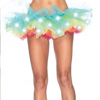 Light Up Rainbow Tutu Skirt