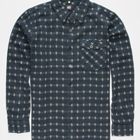 Lost Rat A Tat Mens Flannel Shirt Denim  In Sizes