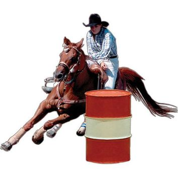 CREYCY8 Barrel Racer Rodeo Magnet