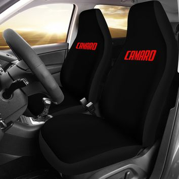 Camaro Red Letter Seat Covers