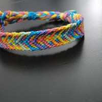 Rainbow Road // colorful bright arrow chevron friendship bracelet