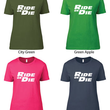 Fast & Furious Inspired Clothing - Ride or Die Crew Neck - Ladies
