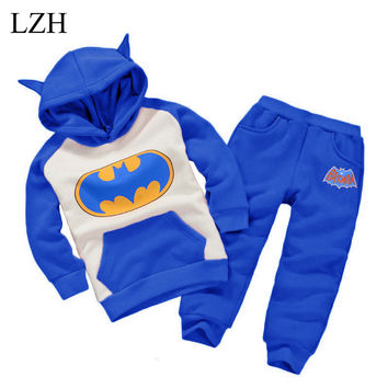 Baby Boy Clothes Set Hoodies Winter Wool Sherpa Baby Sports Suit Jacket Sweater Coat & Pants Thicken Kids Clothes Sets