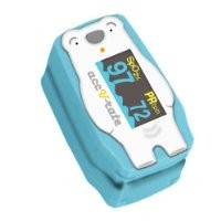 Acc U Rate children digital finger pulse oximeter with adorable animal theme (Polar Bear)