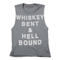 Whiskey Bent Women's Muscle Tee - Design by George Christopher