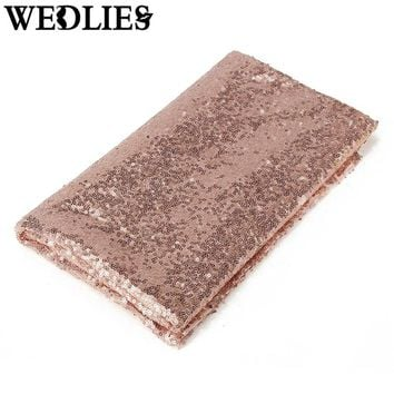 127*127cm Sparkly Shiny Rose Gold Sequin Tablecloth Shimmer Fabric Tablecloth For Wedding/Event/Banquet Decoration