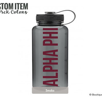 Alpha Phi Simple Water Bottle Sorority