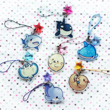 Sea Friends 1.5'' Acrylic Charms