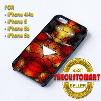 The Iron Man Art - For iPhone 4/4S Black Case Cover