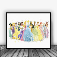 Princesses Full Collection Art Print Poster