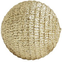Crinkled Glitter Sphere - Gold