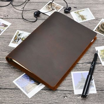 Hot sale Classic Business Notebook A5 Genuine leather cover Loose leaf Journal Diary Traveler Notebook sketchbook planner