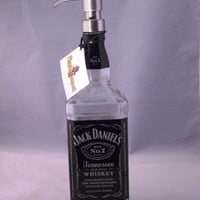 Jack Daniels Bottle Soap Dispenser Lotion Dispenser
