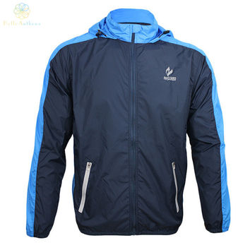 Men's outdoor cycling running long-sleeve jacket waterproof prevent bask uv protection quick-drying Breathable elastic AR011