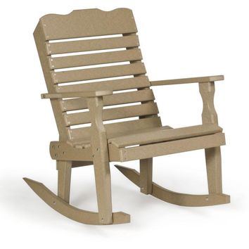Leisure Lawns Amish Made Recycled Plastic Curve-Back Rocker Chair Model # 301 - Ships FREE within 2 to 3 Weeks
