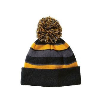 DCCKSW1 Holloway 223835 Comeback Beanie - Black Light Gold Graphite