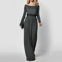 *Online Exclusive* Long Sleeve Maxi Dress