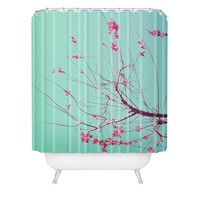 Happee Monkee Red Stars Shower Curtain