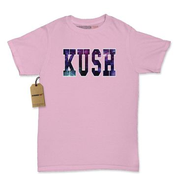 Kush Galaxy Print Womens T-shirt