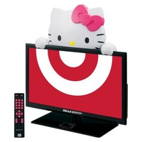 "Hello Kitty 19"" Class 720p 60Hz LED TV/Monitor - Black/Pink/White (KT2219MBY)"