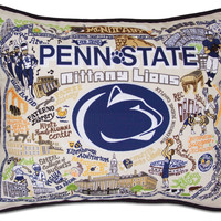Penn State University Embroidered Pillow